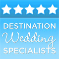Destination Wedding Specialist 2012 for Photography, Wedding DJ, Flowers, Lighting, and Decor